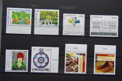 Luxembourg 2004 2005 Commemorative sets Europa Medical Rotary Parliament MNH