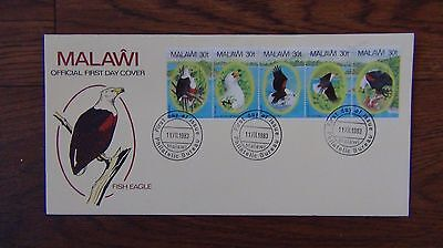 Malawi 1983 African Fish Eagle set on First Day Cover