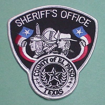 El Paso  County Texas   Silver Border  Sheriff / Police Patch   Free Shipping!!!