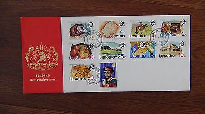 Lesotho 1976 Definitive set complete to R1 on First Day Cover