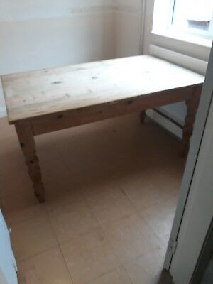Edwardian vintage Pine Kitchen Table