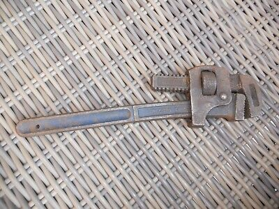 record made 14 inch stilson pipe wrench