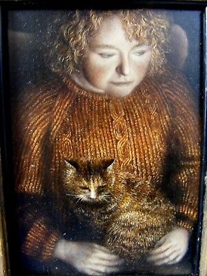 Weird Unusual Portrait of a Witch and Cat 1937