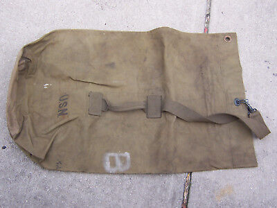 US WWII NAVY CANVAS DUFFLE BAG SEA BAG  LOT of TWO