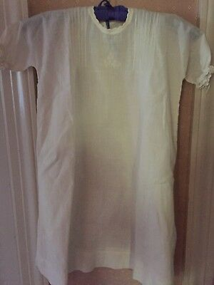 Antique Baby Christening Gown Original Buttons