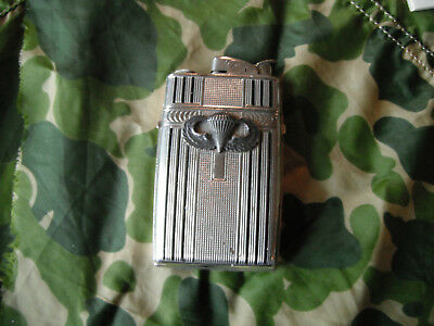 WW2 AIRBORNE 504th PARACHUTE INF REGT Officer CIGARETTE CASE/LIGHTER  ID'd Lot