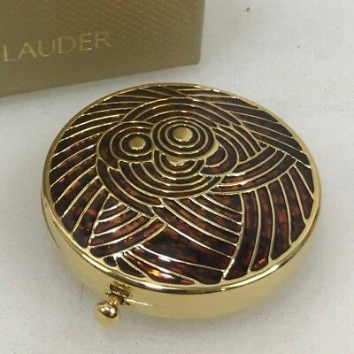NEW ESTEE LAUDER Vintage Art Deco Round Lucidity Powder Compact Collectors 30328