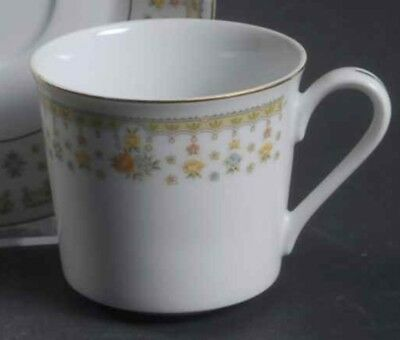 Flat Cup Garden Bouquet by FINE CHINA OF JAPAN Vintage Retired FREE Ship