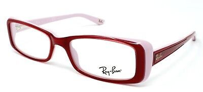Ray-Ban RX5243 Eyeglasses - Red on Light Pink (5087) - 48mm