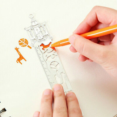 1Pc Fairy Tale Ultra-thin Creative Metal Tale Bookmark Rulers World Random New
