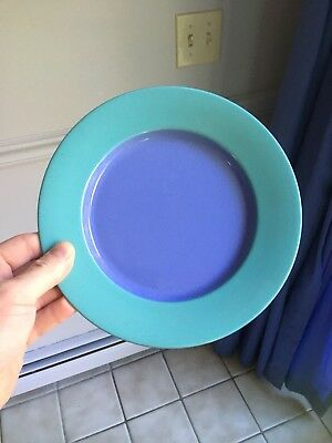 "Lindt Stymeist Japan Colorways Blue & Turquouse 8"" Salad Plate w/ Label"