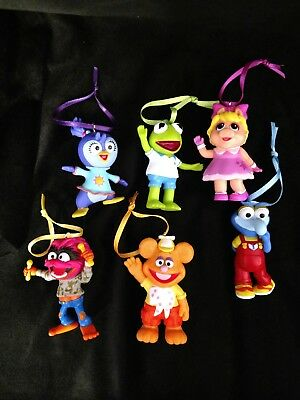 Muppet Babies Playschool Christmas Ornament Set Kermit Piggy Fozzie Gonzo Animal