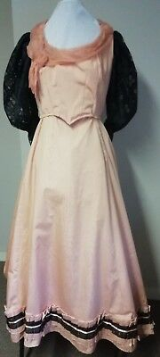 Peach Edwardian style theatrical costume ladies. 36 bust. Good condition