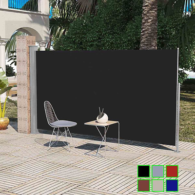 Retractable Patio Terrace Side Awning 160/180 x 300 cm Automatic Rollback Screen