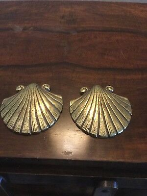 Vintage Pair Of Solid Brass Shells