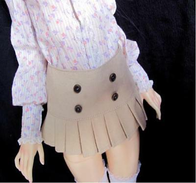 BJD 1/4 msd Minifee Size pleated skirt clothes light brown