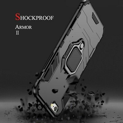 Heavy Duty Hybrid Armor Clip Hard Case Cover Black For Appe iPhone X XS MAX XR 8