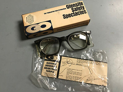 Vintage Glensite Safety Spectacles w/ Adjustable Temples