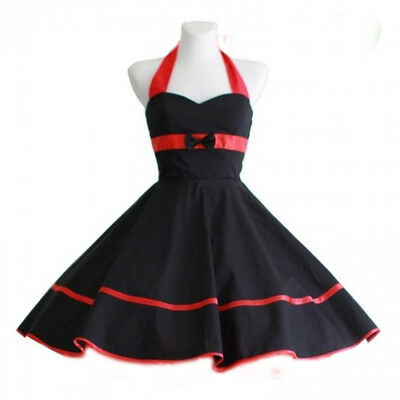 BJD 1/4 Minifee fairyland Pin up dress Black&Red Doll clothes outfit