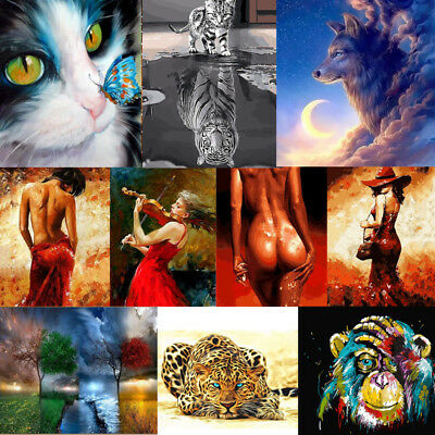 Various Art Paint By Number Kit DIY Acrylic Oil Painting Home Decor Sexy Women