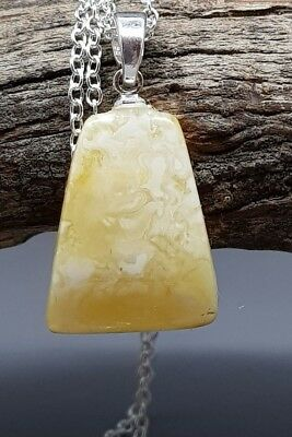 1,5 gr Genuine Natural Butterscotch Baltic Amber Pendant Necklace