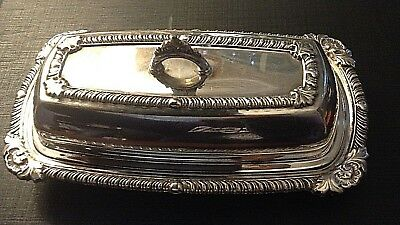 1940s Silver Plated Butter Dish - Pilgrim 73