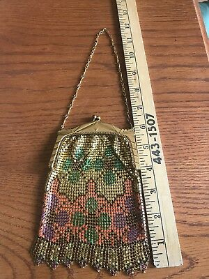 Vintage Whiting & Davis Enameled Mesh Beadlite Purse