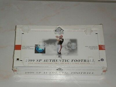 "Boite de trading cards Upper Deck 1999 SP Authentic Football NFL ""neuve"""