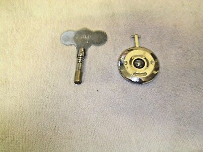 Clock  Parts , Garrard,  Pendulum  And  Key