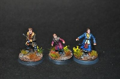 Hobbit Bard's Family painted Bain Sigrid and Tilda Middle Earth Forgeworld
