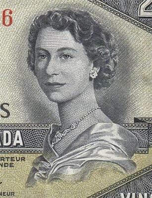 1954 Bank Of Canada Qeii $20 **devils Face** (( Ef ))