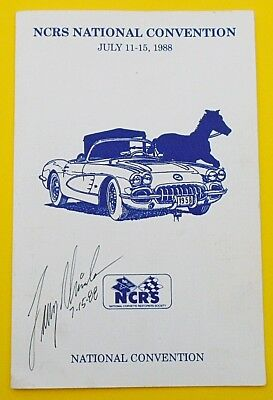 Larry Shinoda Signed/dated 1988 Ncrs Natl Convention Program:mako Vette,boss 302