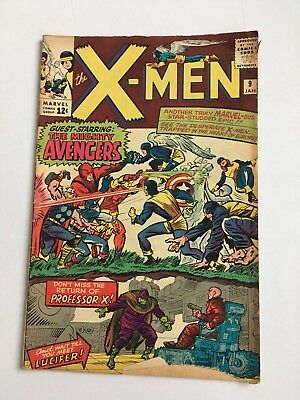 X-Men #9 1965 1st Appearance of Lucifer-Avengers Meet X-Men!