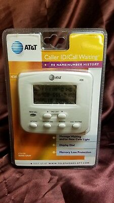 AT&T caller ID/call waiting #436, 90 name/number caller ID New! Ships super fast