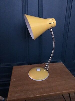 Vintage Yellow Metal Desk Lamp New Old Stock