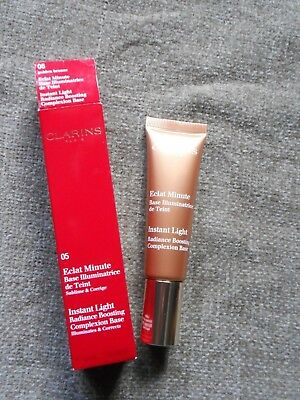 Maquillage Clarins Eclat Minute Base Illuminatrice De Teint 05  Golden Bronze