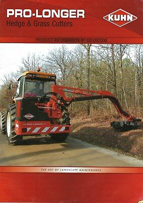 NEW LISTING - Kuhn Pro-longer Hedge & Grass Cutters Brochure