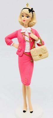 2009 Barbie Preferably Pink Hallmark Ornament Pink Suit NEW IN BOX Fashion Model