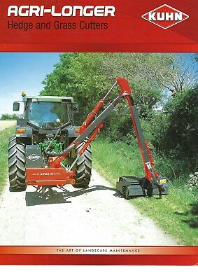 NEW LISTING - Kuhn Agri-longer Hedge & Grass Cutters Brochure