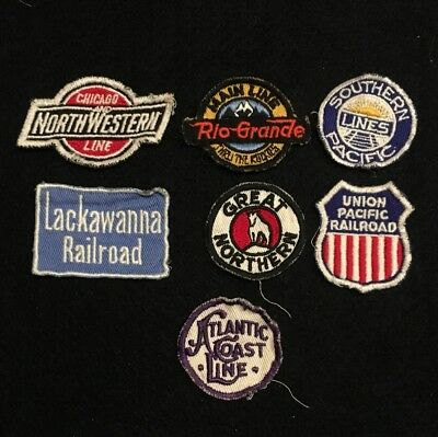 7 Small Railroad Patches