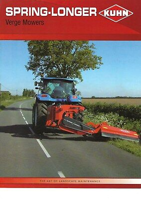 NEW LISTING - Kuhn Spring-longer Verge Mowers Brochure