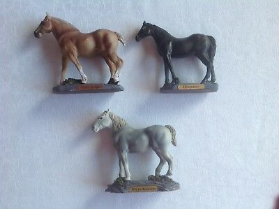 "Lot de trois figurines collection ""Les races de chevaux"""