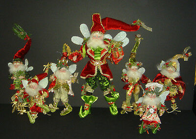 """Mark Roberts Collection Christmas FAIRY ELF Lot of 7 Ornaments One 17"""" Six 10"""""""