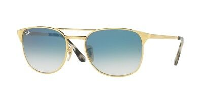 c2085c7669e Ray Ban RB3429M 001 3F Gold Frame Light Blue Gradient 58mm Lens Sunglasses