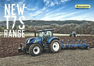 NEW LISTING - New Holland T7S Tractors Sales Brochure - 09/18