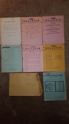 Lot Of 7 Whizzer Dealer Bulletins And 1 Dealership Envelope Late 1940's