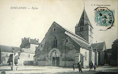 CPA   FONTAINES - Eglise
