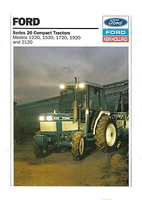NEW LISTING - Ford New Holland Series 20 Tractors Sales Brochure