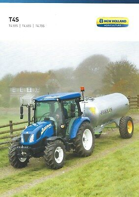 NEW LISTING - New Holland T4S Tractors Sales Brochure - 09/18