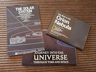 National Geo Maps Lot Journey into the Universe, Orion Nebula, The Solar System